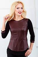 Женская блуза нарядная с рукавом 3\4 810 коричневый