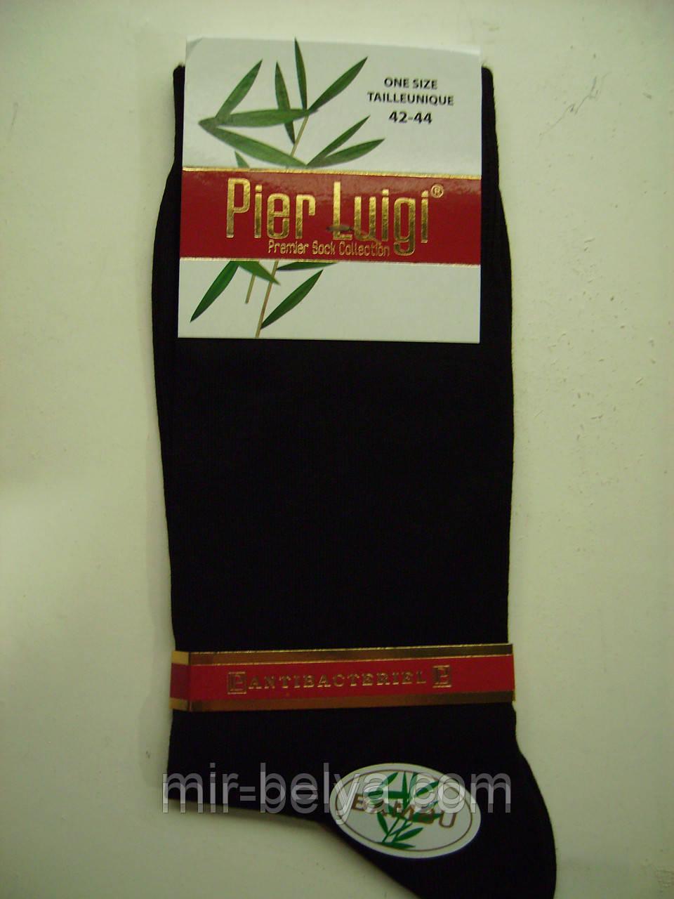 Носки Pierre Luigi черные мужские бамбуковые