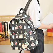 Гламурный рюкзак с духами из холста  .