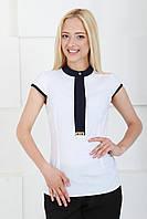 Молодежная женская блузка 2043 белый