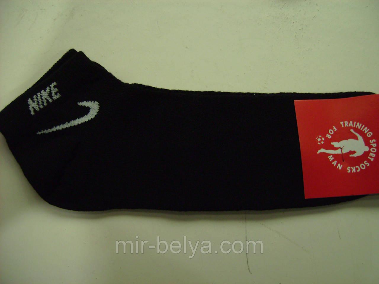 Спортивные мужские короткие носки Nike черные