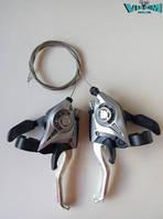 Ручки переключения (моноблок) Shimano Altus-Acera ST-EF 51   3х8 (серые)