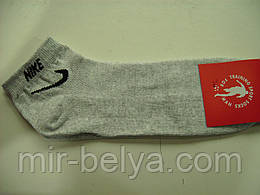 Мужские короткие носки Nike серый