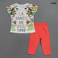 Летний костюм для девочки. 92, 104, 110 см, фото 1