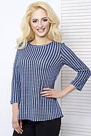 Женская блуза нарядная 811 синий