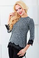Женская блуза нарядная 805 светло-серый