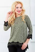 Женская блуза нарядная 805 зеленый