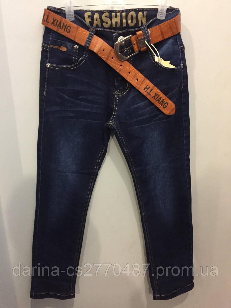 Джинсовые брюки на мальчика подростка 140,164 см