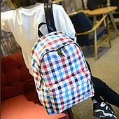 Объемный рюкзак в клетку  .