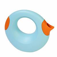 Quut - Лейка Cana, 1 л, голубая с оранжевым