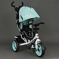 Велосипед 6570 3-х колёсный Best Trike (1) БИРЮЗА, переднее колесо 12 дюймов d=28см, заднее 10 дюймов d=24см,