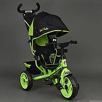 Велосипед 6570 3-х колёсный Best Trike САЛАТОВЫЙ, переднее колесо 12 дюймов d=28см, заднее 10 дюймов d=24см,