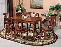 Деревянный стол раскладной TS6, резной стол в стиле Классика на 4х ногах