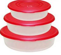 Набор круглых контейнеров для продуктов 3в1