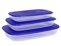 Набор прямоугольных контейнеров для продуктов 3в1