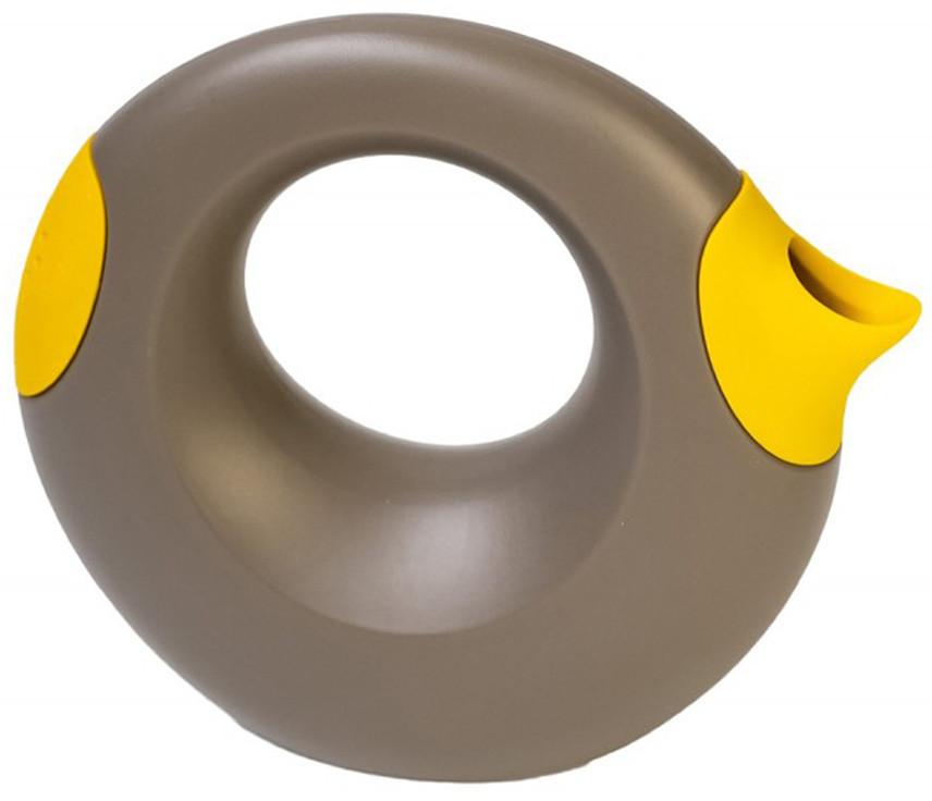 Quut - Лейка Cana, 1 л, серая с желтым
