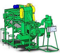 Крупорушка для переработки гречихи. Оборудование для переработки крупы