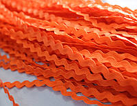 Тесьма вьюнок оранжевая 5мм., 18м.