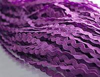 Тесьма вьюнок фиолетовая 5мм., 18м.