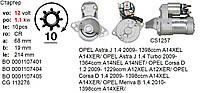 Стартер реставрация оригинал Hitachi OPEL Agila Astra Combo Corsa Meriva Signum Tigra Vectra Zafira SAAB 9-3, фото 1