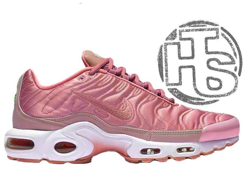 37821b30c4d012 Женские кроссовки Nike Air Max TN Plus Satin Pack Pink 830768-551 - Интернет -