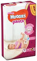 Подгузники-трусики Huggies Pants размер 3 для девочек 6-11кг гигиенические 44шт