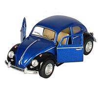 Модель синяя Volkswagen Classical Beetle (Black Fender)  арт. KT5057WE
