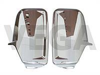 VW Crafter 2006- Накладки на зеркало правое и левое наружное боковое ХРОМ