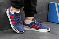 Синие с красным мужские кроссовки Adidas Busenitz