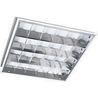 Светильник растровый встроен. с перф. вставками, Lumen LED 4x10 6400K 600x600 с лампами