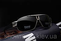 Солнцезащитные очки в стиле Porsche Design c поляризацией (p8516) серебрянная оправа