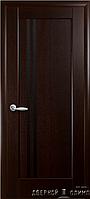 Двери Делла венге new черное стекло