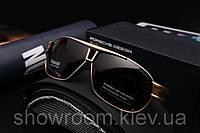 Солнцезащитные очки Porsche Design c поляризацией (p8516) золотая оправа