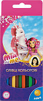 Карандаши цветные Kite Mia & Me 12 цветов MM15-051K