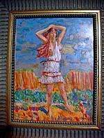 Картина Полуобнажённая девушка  Сычёв Станислав, 1995 год