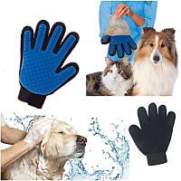 Перчатка для чистки животных True Touch Pet Brush Gloves, перчатка для снятия шерсти, фото 1