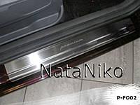 Накладки на пороги Ford C-Max II 2010- Nataniko Premium