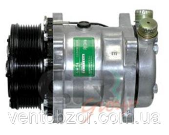 Компрессор универсальный 5H14 (шкив 8PV, вертик. Rotalock, 12 В)