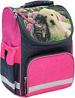 Рюкзак школьный каркасный Bagland Успех 12 л. серый 138д (00551702)