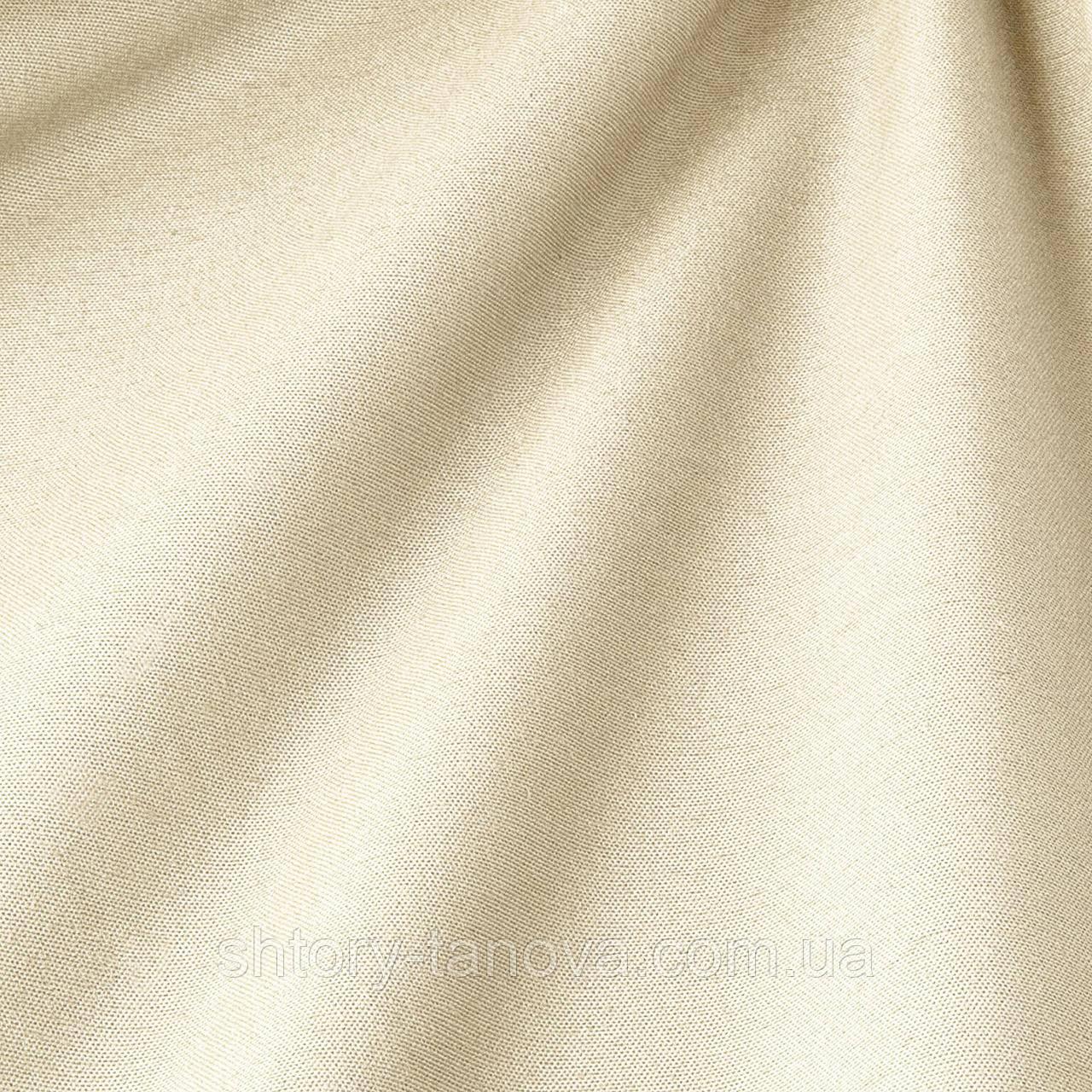 Декоративная ткань однотонная, молочный