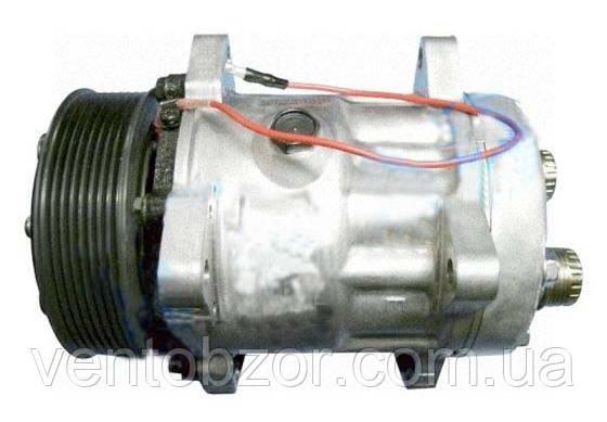 Компрессор универсальный 5H14 (шкив 8PV, горизонт. Rotalock, 12 В)