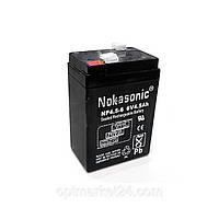 Аккумулятор NOKASONIK 6 v-4.5 ah 620 gm!Акция