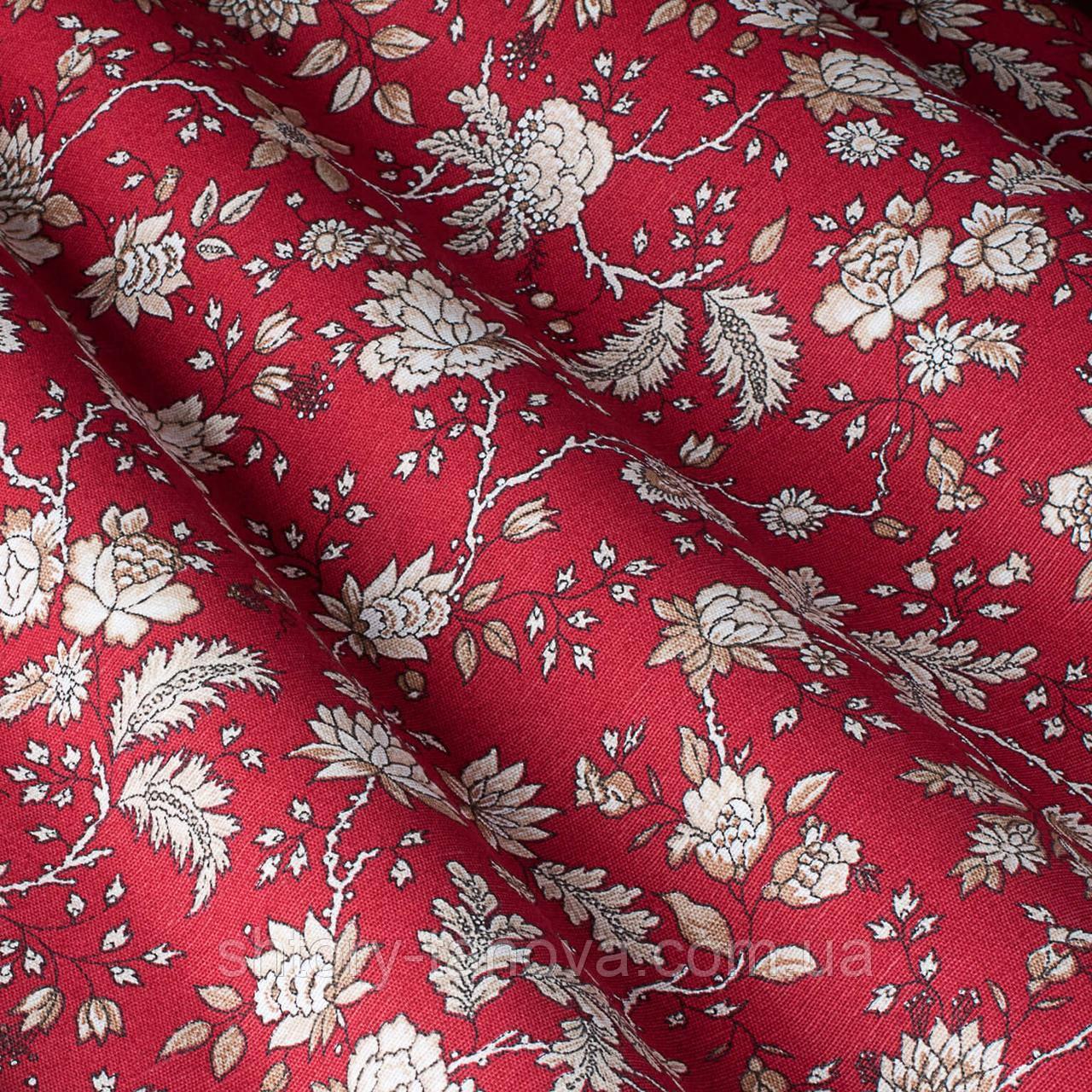 Декоративная ткань с цветочными мотивами