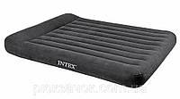 Двухместная надувная кровать с подголовником Intex 152х203х30 см. 66769
