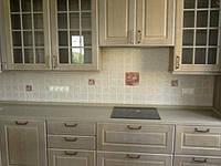 кухня шпонированная+камень столешница