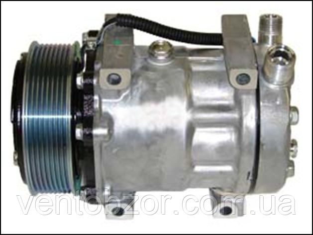 Компрессор универсальный 7H15 (шкив поликлин 119 мм, горизонт., 24 В)