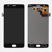 Дисплей для мобильного телефона OnePlus 3, черный, с сенсорным экраном