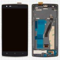 Дисплей для мобильного телефона OnePlus One, черный, с сенсорным экран