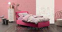 Дитяче ліжко односпальне Soft з м'яким узголів'ям односпальне для готелю, готелі, фото 1