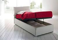 Детская кровать односпальная Soft с мягким изголовьем с подъемным механизмом для отеля